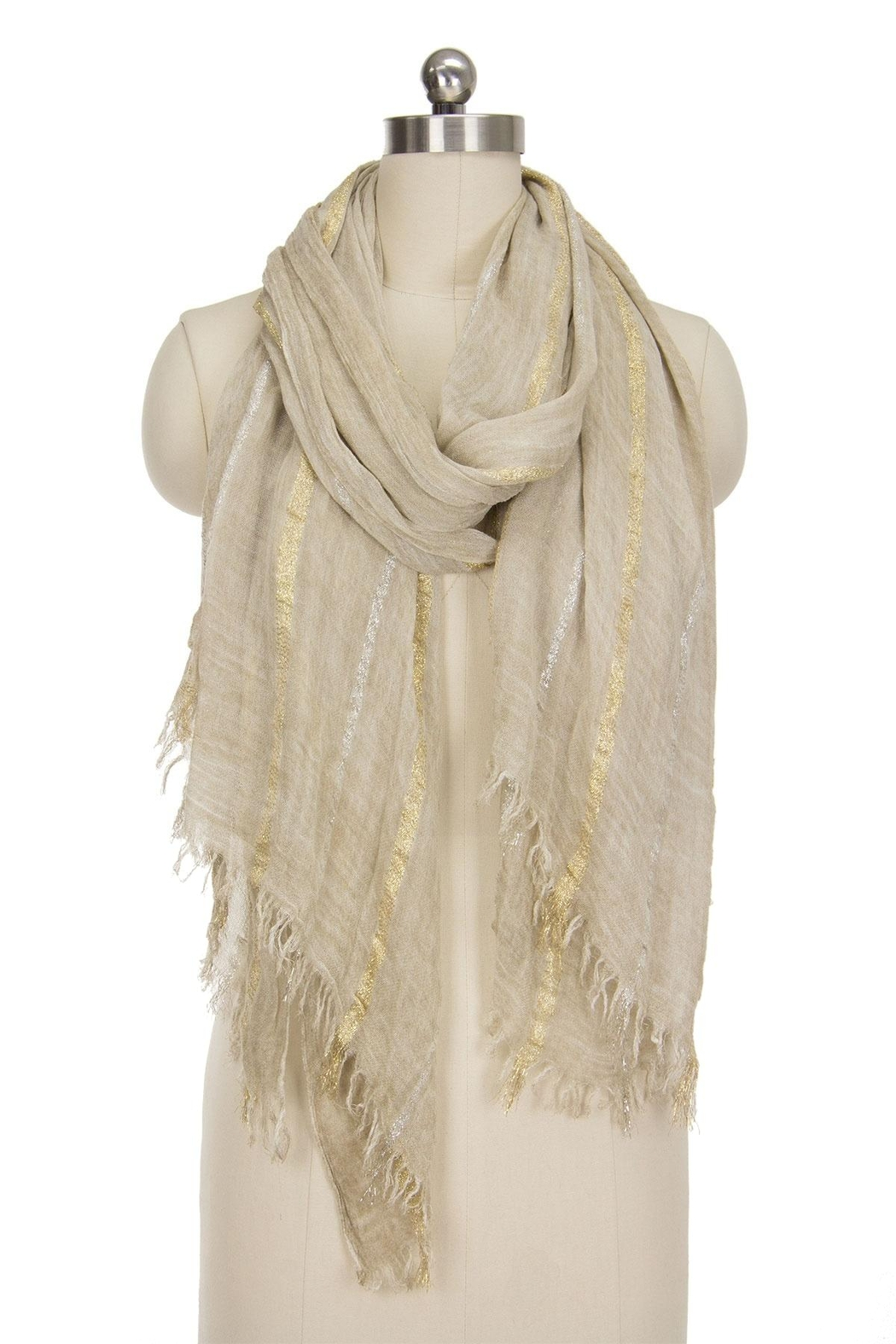 Saachi Up All Night Striped Scarf - Back Cropped Image