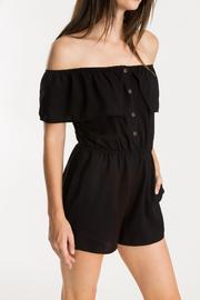 Whimsy and Row Black Isabella Romper - Product Mini Image
