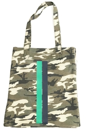 Quilted Koala Upright Green Camo w/ Green and Blue Stripe - Product Mini Image
