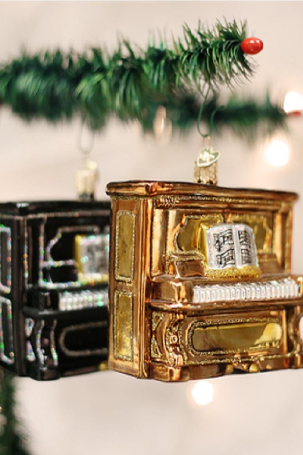 Old World Christmas Upright Piano Ornaments - Front Cropped Image