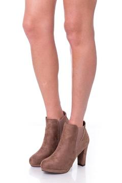 Uptown Beige Squares Booties - Product List Image