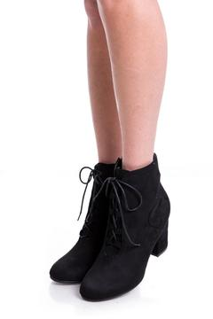 Uptown Black Laces Booties - Product List Image