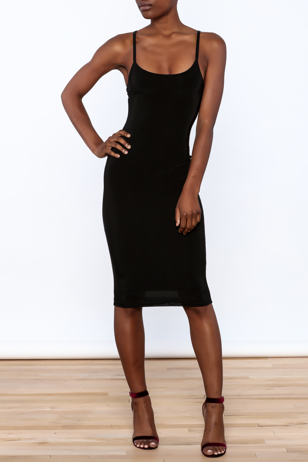 Uptown Sexy Sleeveless Bodycon Dress - Front Full Image