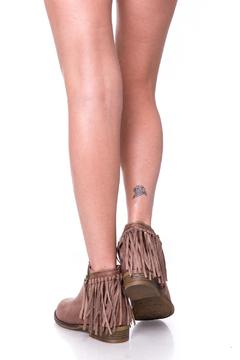 Shoptiques Product: Brown Fringed Booties