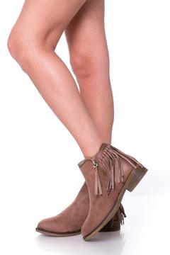 Uptown Brown Fringed Booties - Product List Image