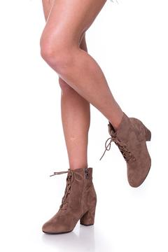 Shoptiques Product: Brown Laces Booties