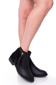 Shoptiques Product: Fringed Black Booties