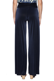Uptown Navy Palazzo Pants - Back cropped