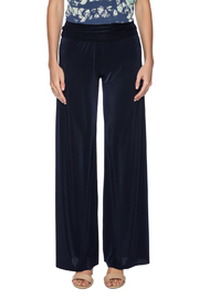 Uptown Navy Palazzo Pants - Side cropped