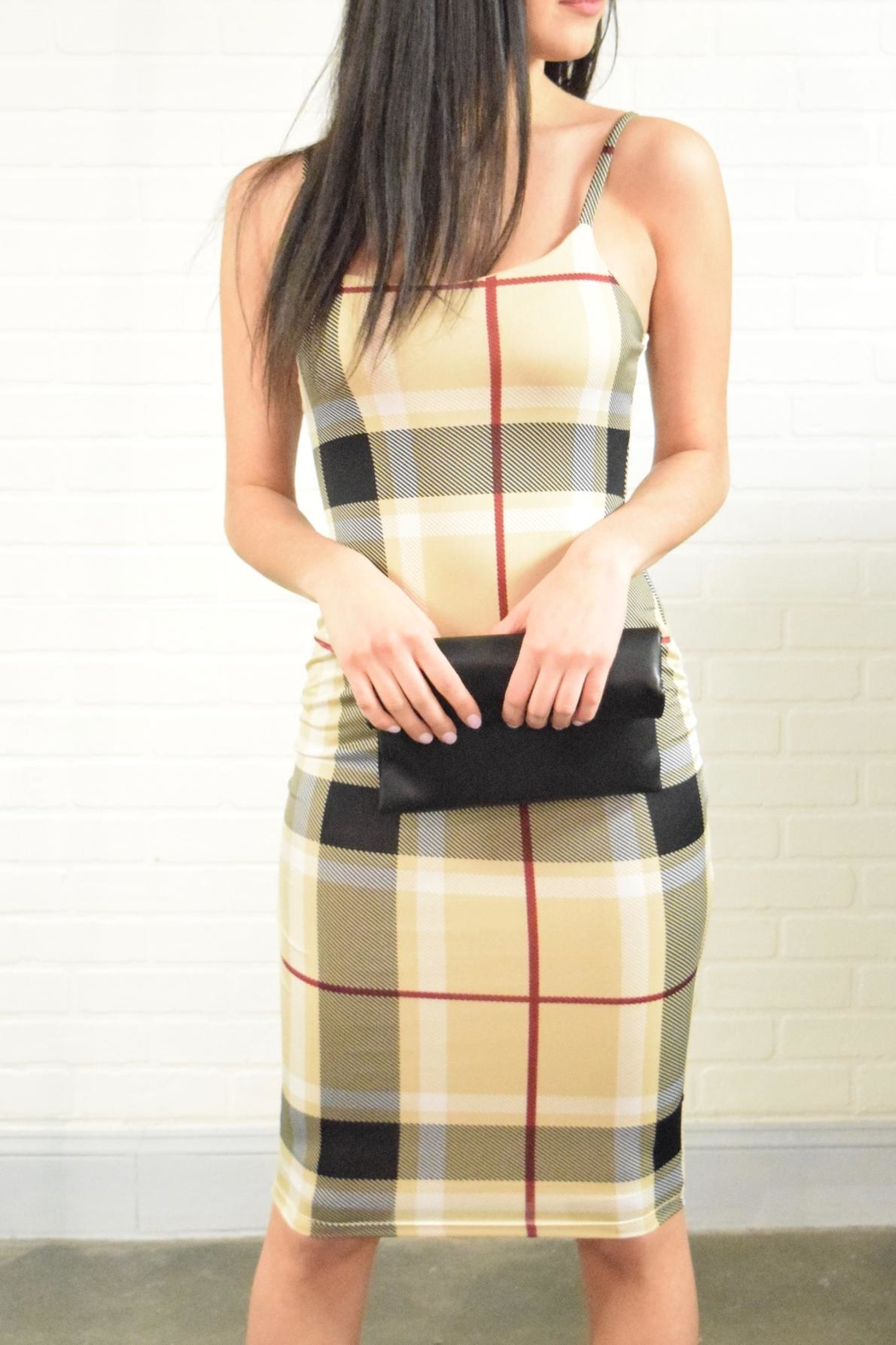 Uptown Plaid Check Dress - Front Full Image