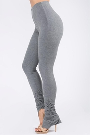 Uptown Apparel Ribbed Shirring Legging - Front cropped