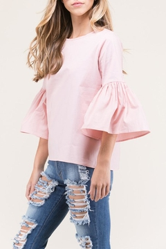 Shoptiques Product: Pink Bell Sleeves Top