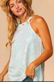 Urban Chic Teal Sequin Tank - Front cropped