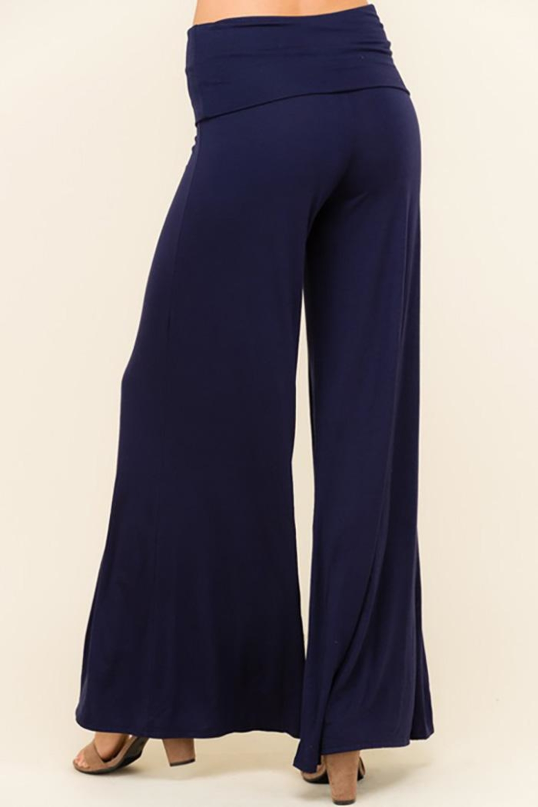 Urban Chic Wide Leg Flare-Pants - Front Full Image