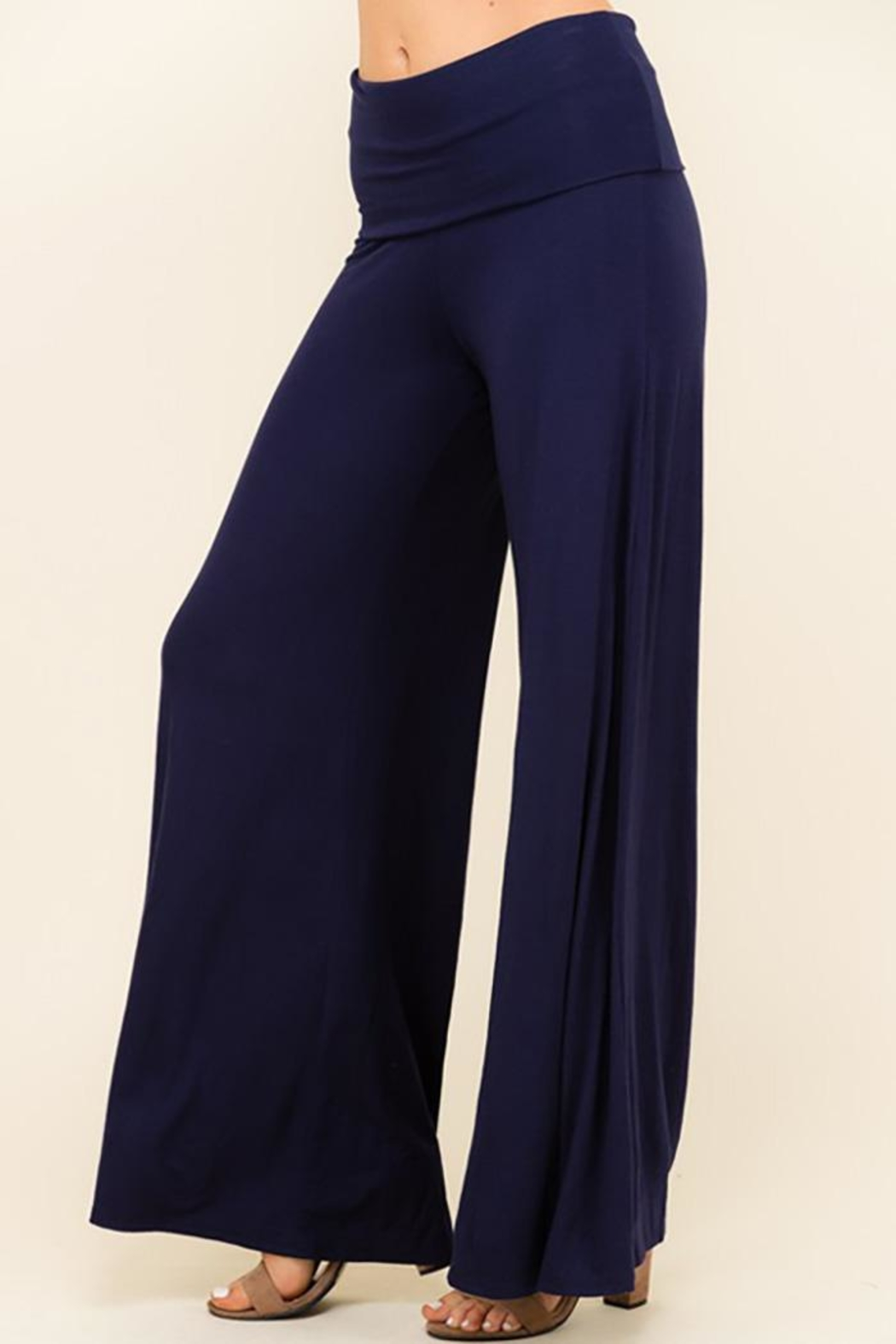 Urban Chic Wide Leg Flare-Pants - Side Cropped Image