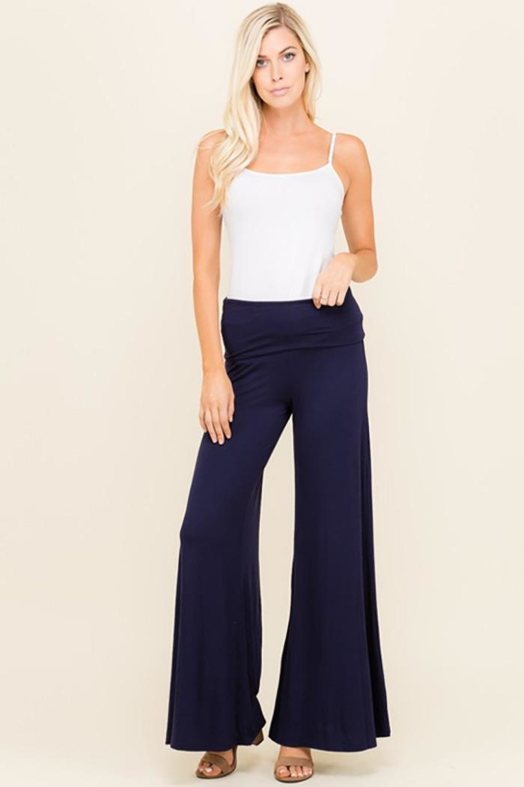 Urban Chic Wide Leg Flare-Pants - Front Cropped Image