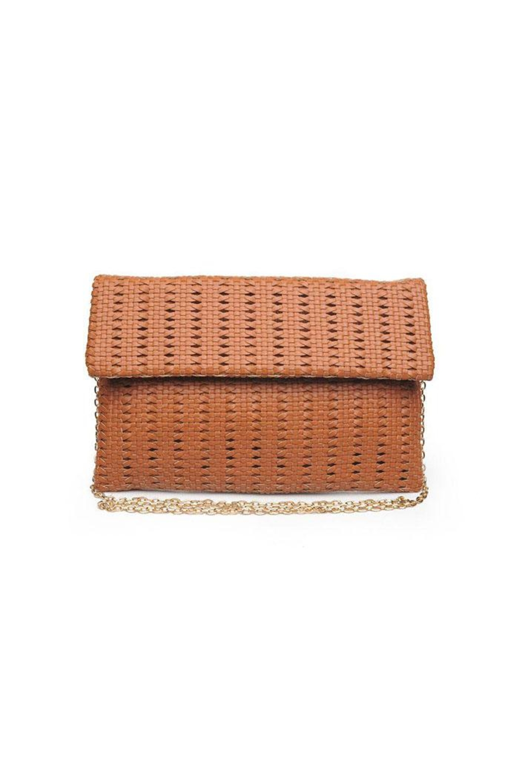 Urban Expressions Addison Woven Clutch - Front Cropped Image