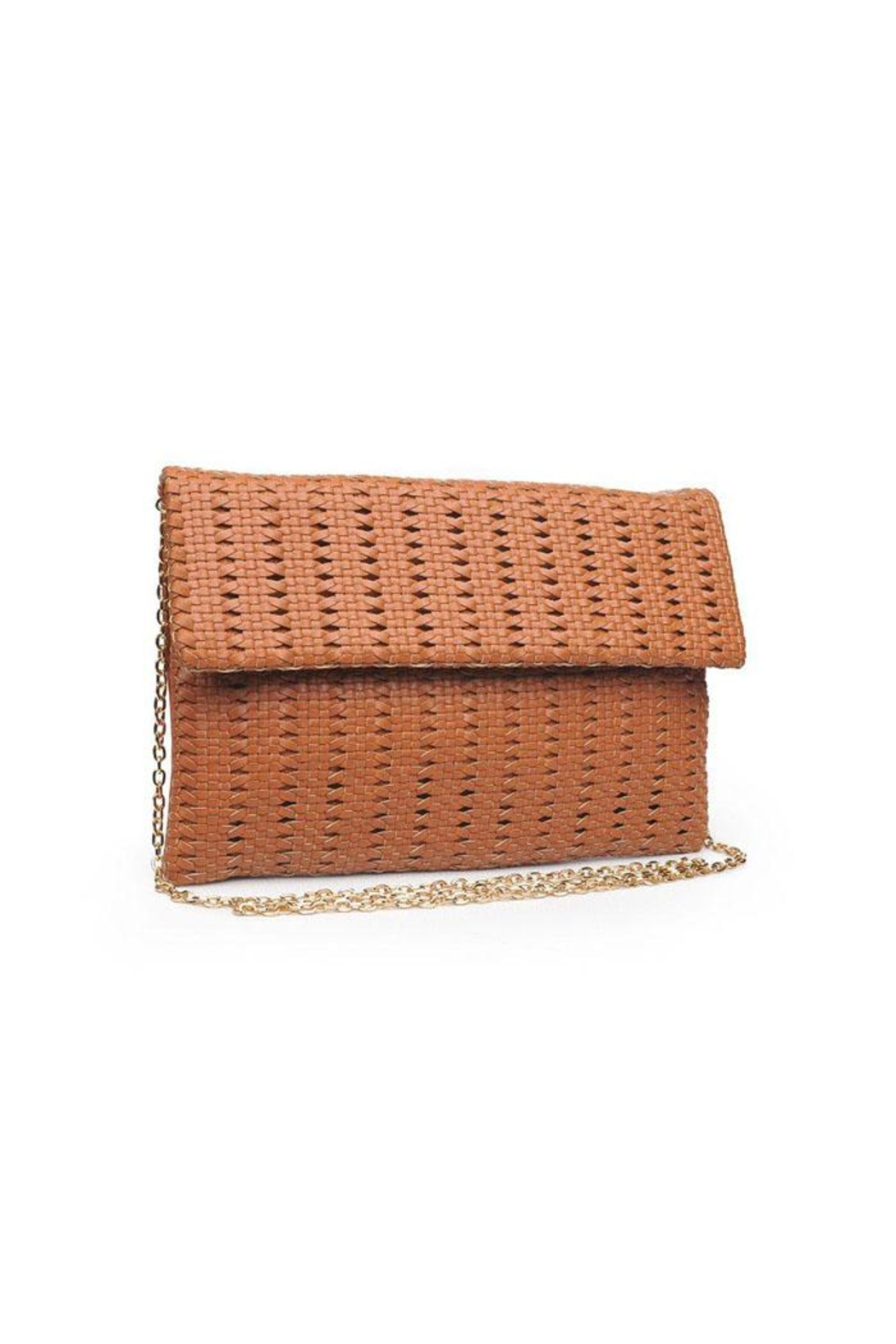 Urban Expressions Addison Woven Clutch - Front Full Image