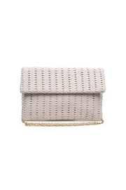 Urban Expressions Addison Woven Clutch - Front cropped