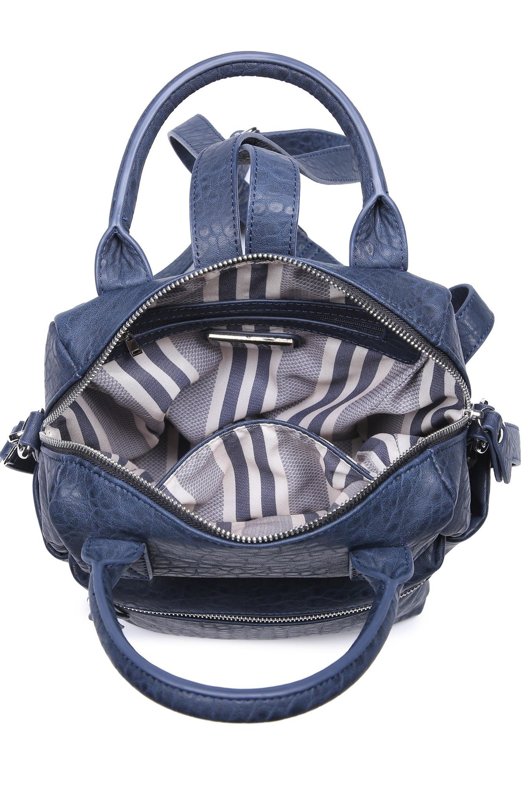 Urban Expressions Andre Textured Backpack - Side Cropped Image
