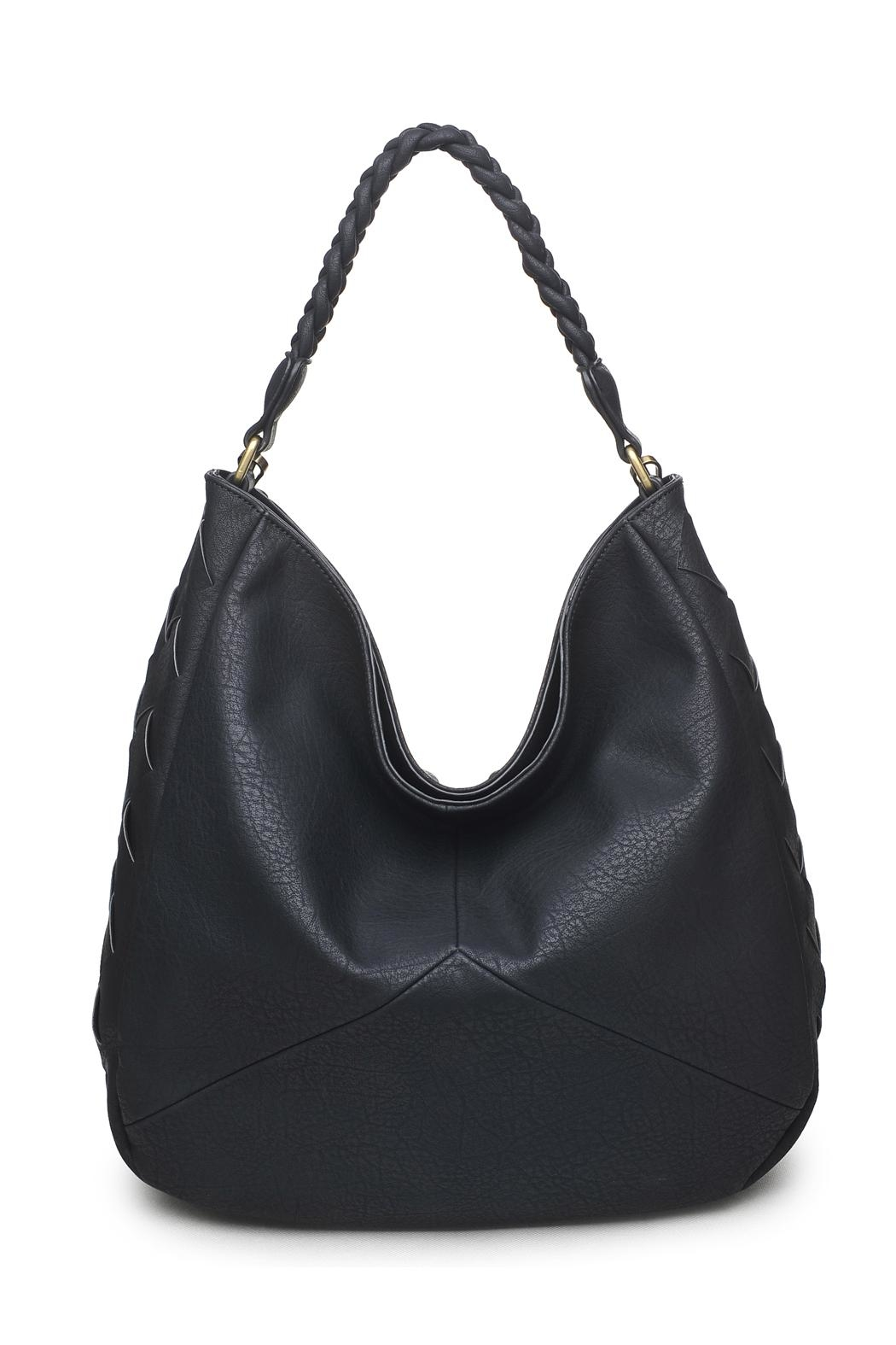 Urban Expressions Black Hobo Bag - Front Cropped Image