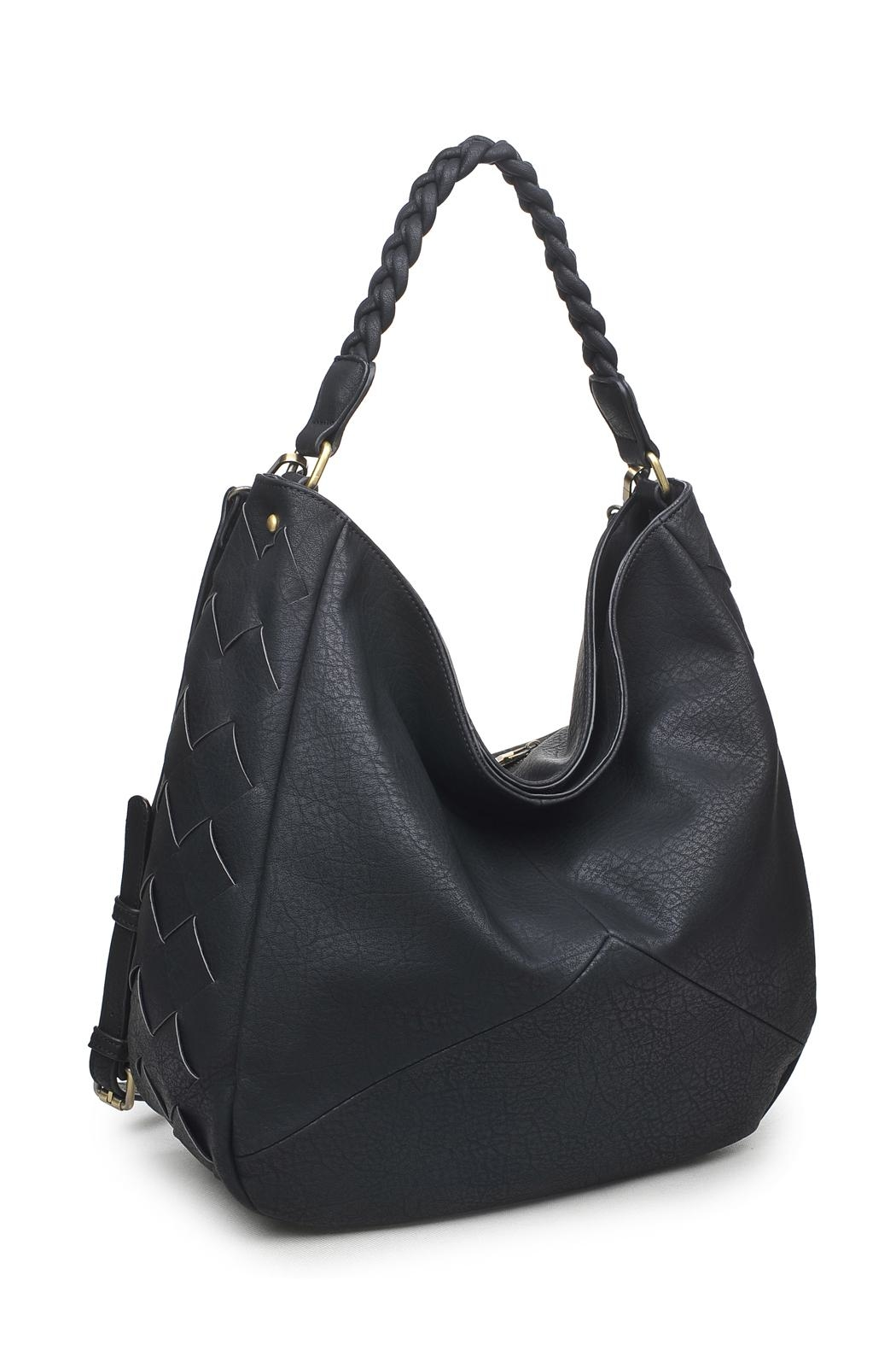 Urban Expressions Black Hobo Bag - Front Full Image