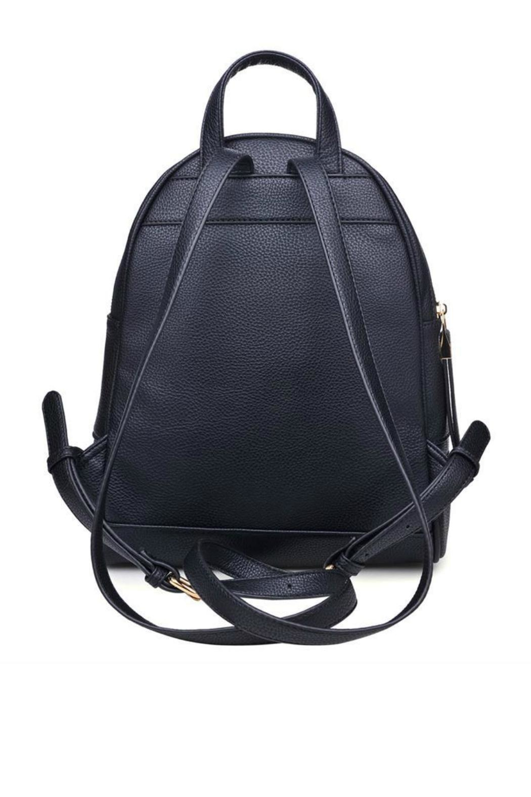 Urban Expressions Black Rose Backpack - Front Full Image