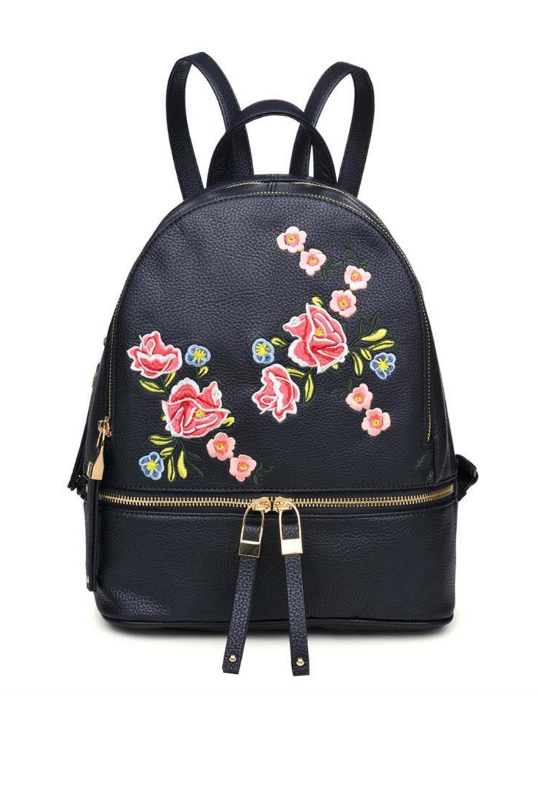 Urban Expressions Black Rose Backpack - Main Image