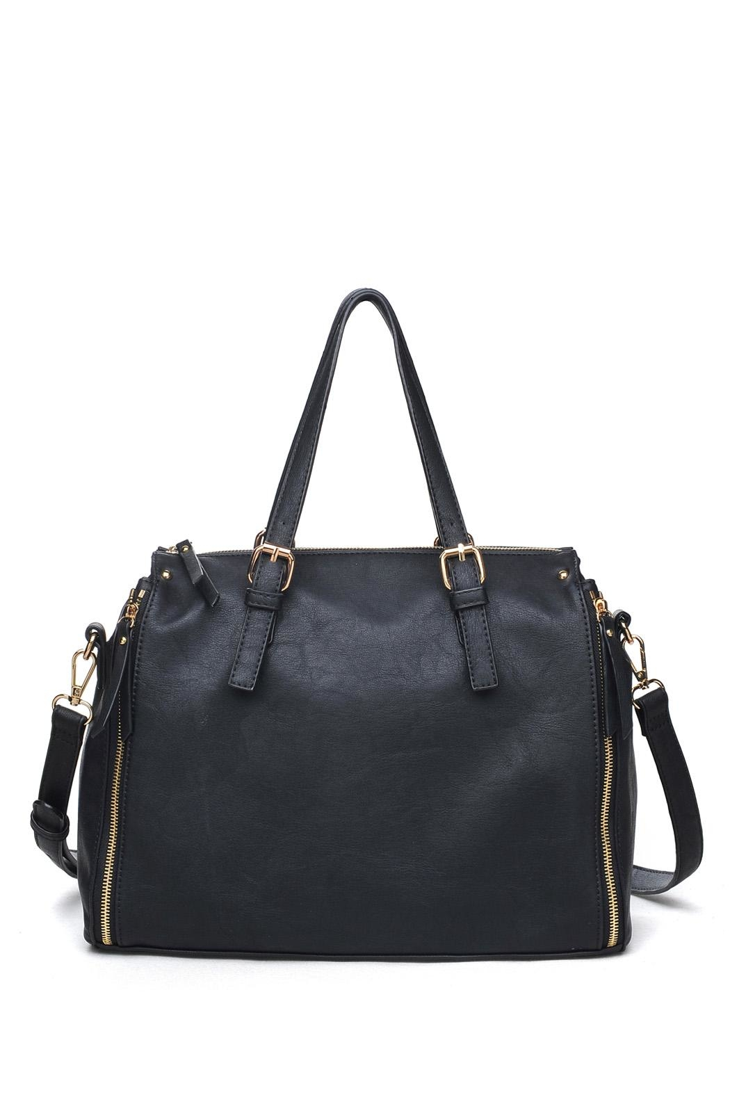 Urban Expressions Black Satchel Bag - Main Image