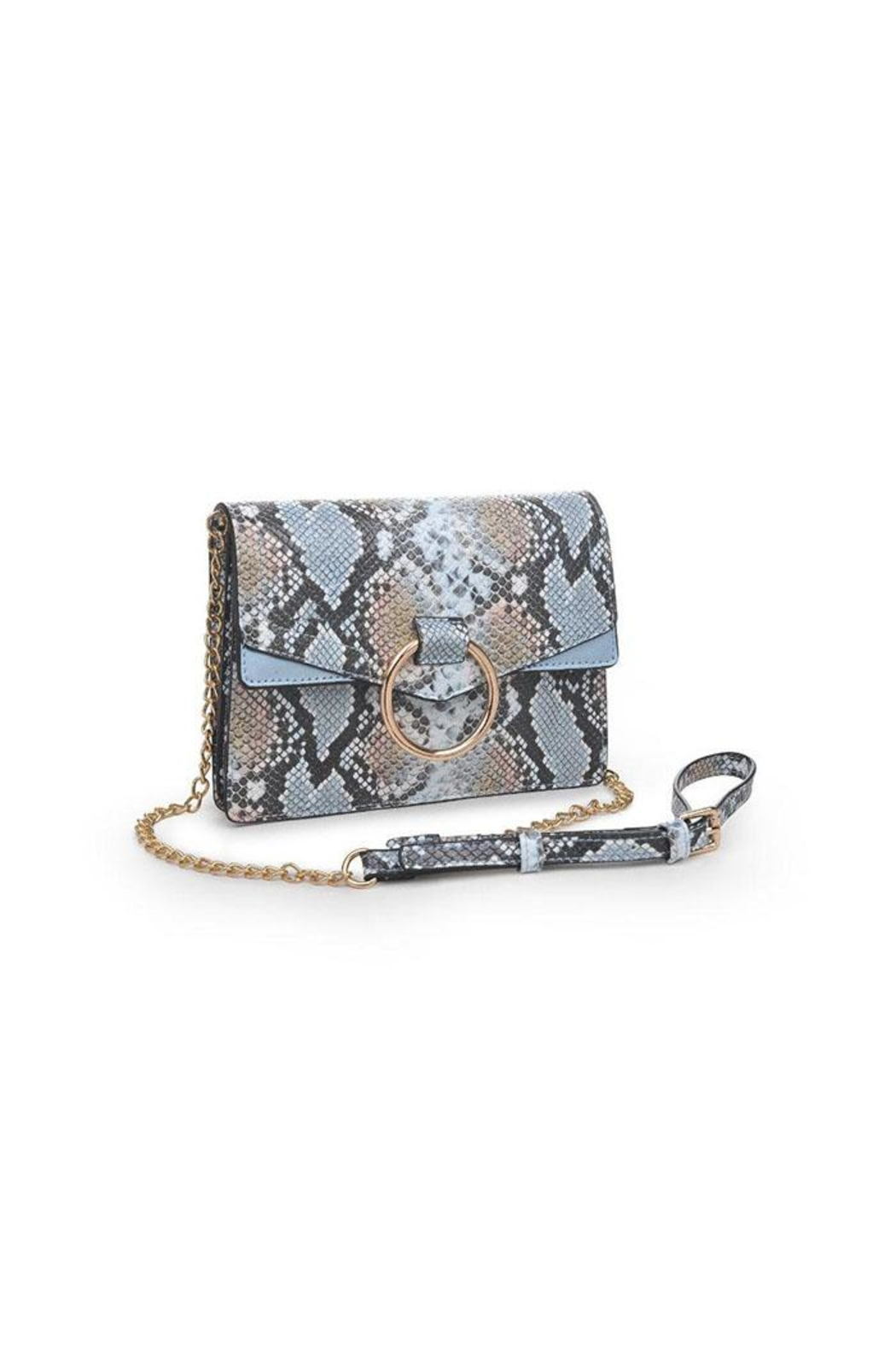 Urban Expressions Blue Snake Crossbody - Front Full Image