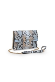 Urban Expressions Blue Snake Crossbody - Front full body