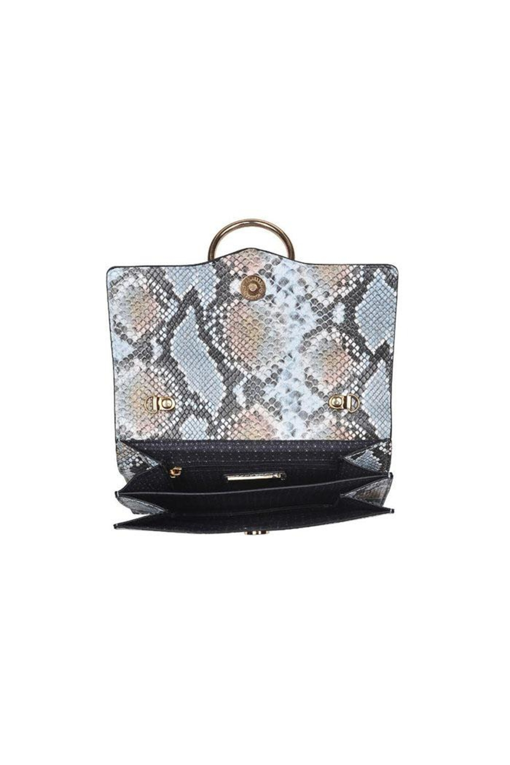Urban Expressions Blue Snake Crossbody - Side Cropped Image