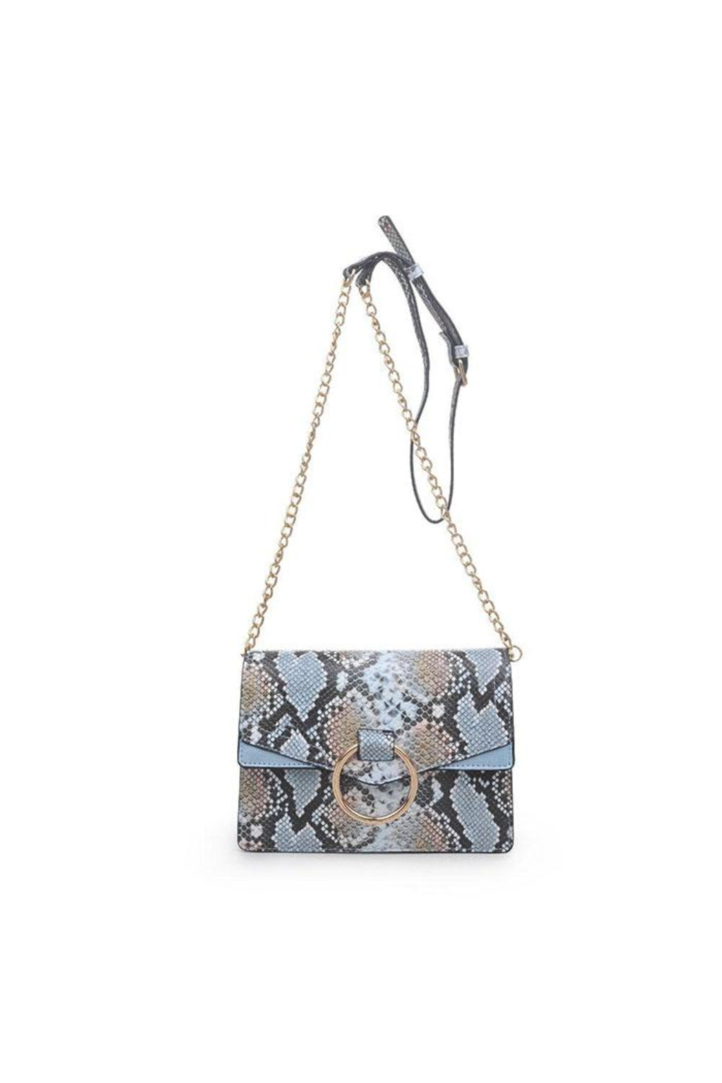 Urban Expressions Blue Snake Crossbody - Main Image