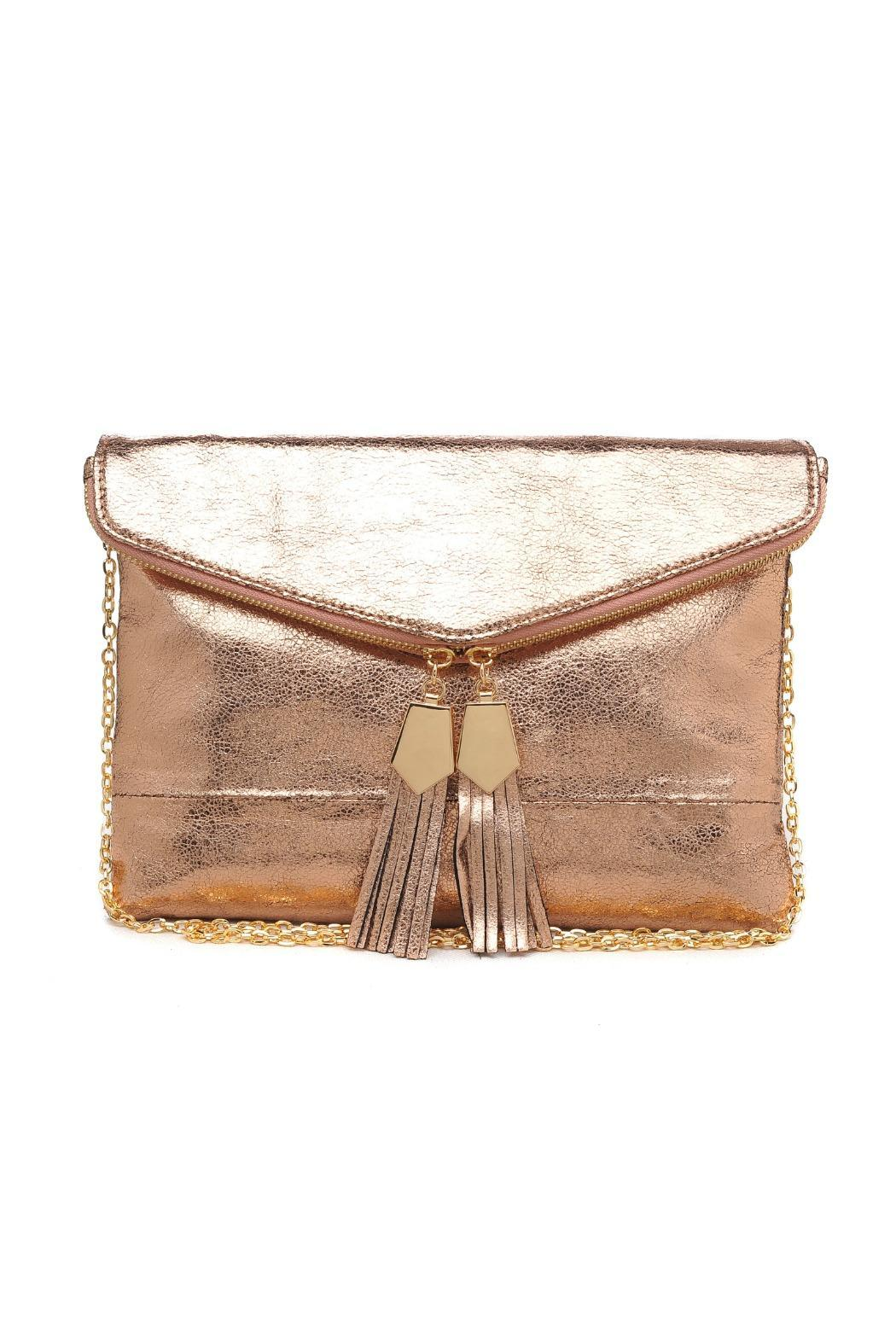 Urban Expressions Brooklyn Tassel Clutch - Front Cropped Image