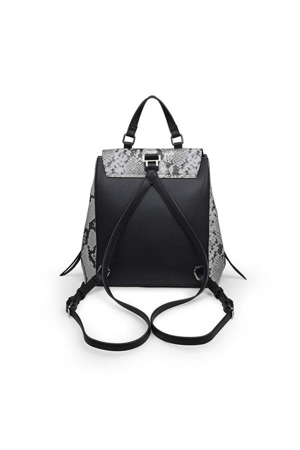 Urban Expressions Charlize Snakeskin Backpack - Back Cropped Image