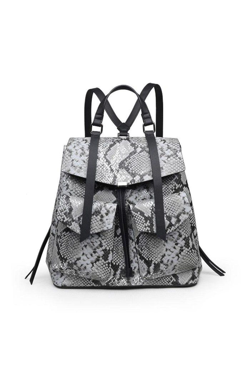 Urban Expressions Charlize Snakeskin Backpack - Main Image