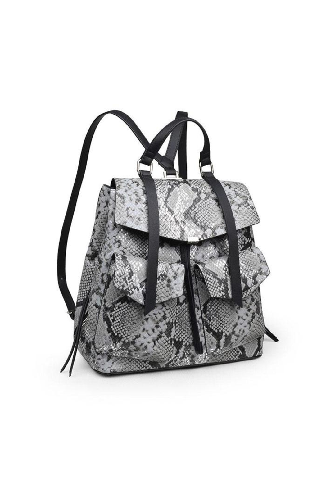 Urban Expressions Charlize Snakeskin Backpack - Front Full Image