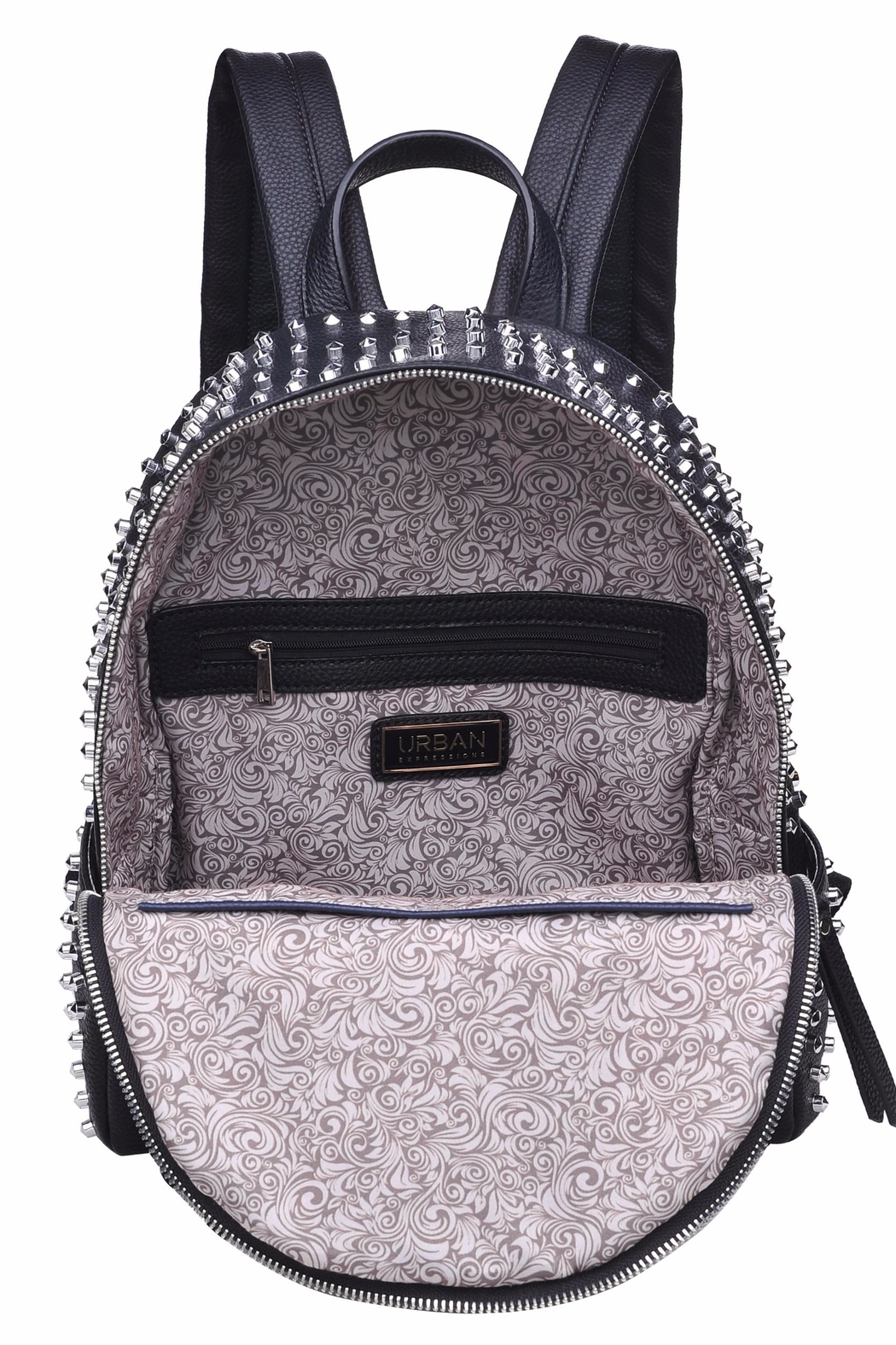 Urban Expressions Cosmos Studded Backpack - Back Cropped Image
