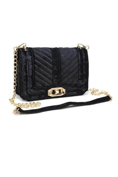 Urban Expressions Crystal Velvet Crossbody Bag - Product List Image