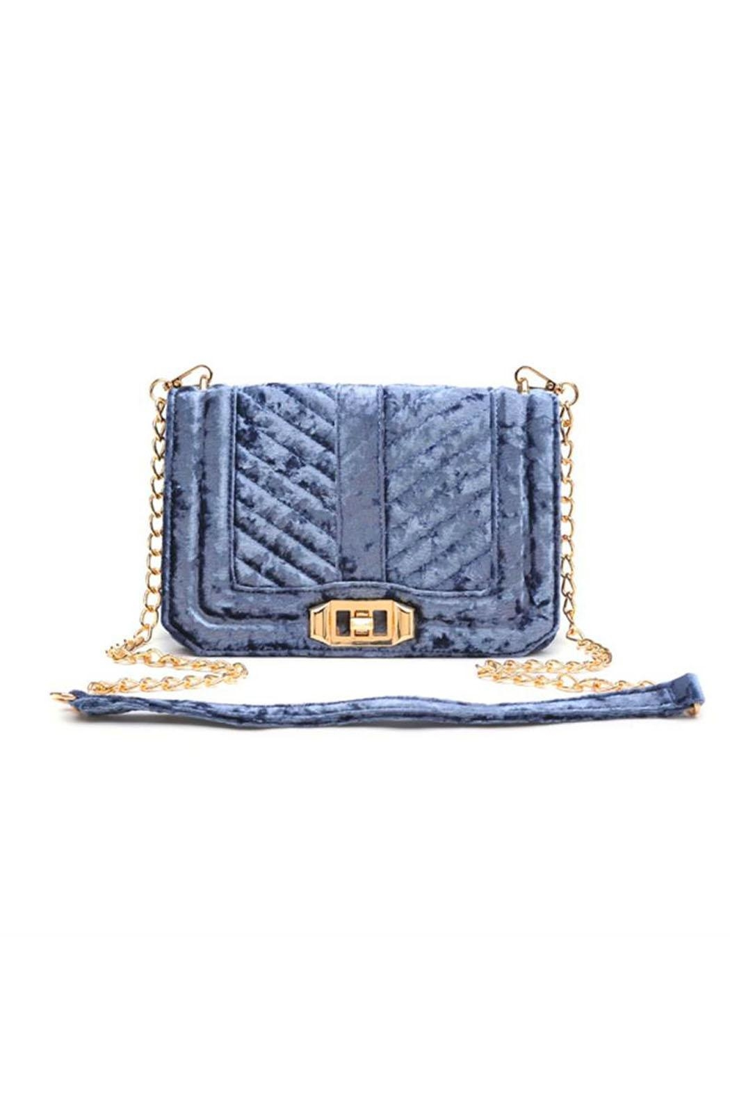 Urban Expressions Crystal Velvet Crossbody - Front Cropped Image