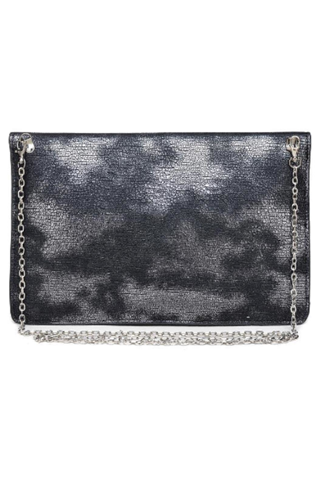 Urban Expressions Diva Metallic Clutch - Front Full Image