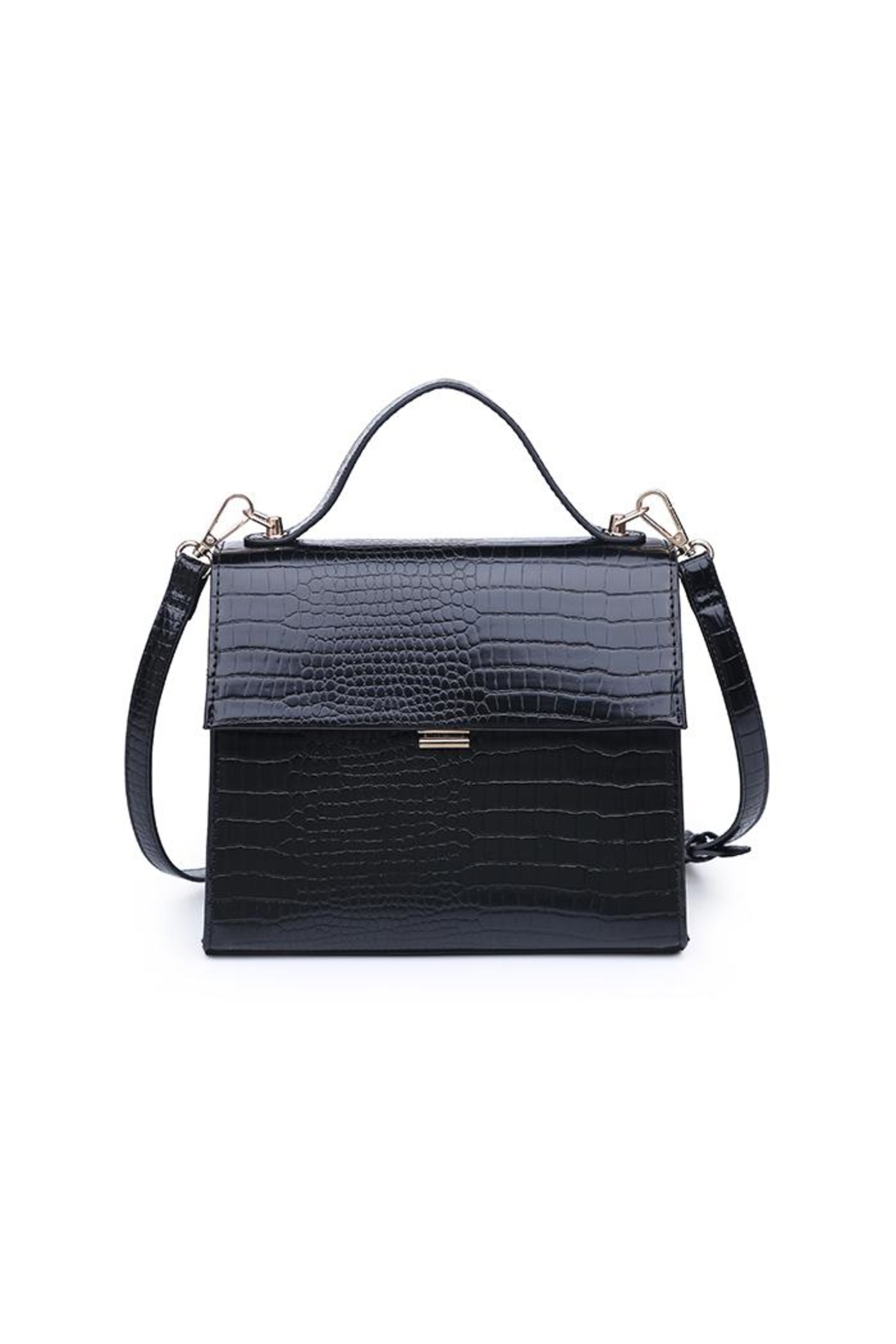 Urban Expressions Elliot Crocodile Crossbody - Front Cropped Image