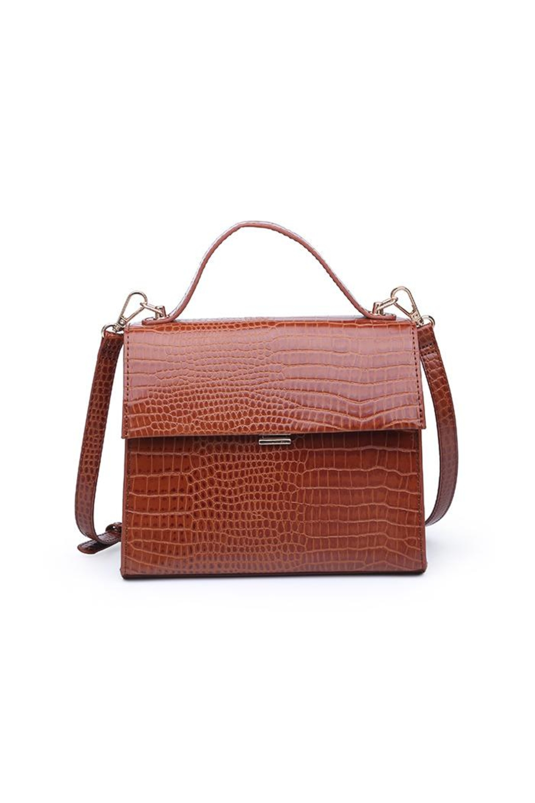 Urban Expressions Elliot Crocodile Crossbody - Side Cropped Image