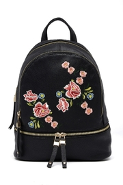 Urban Expressions Embroidered Rose Backpack - Product Mini Image