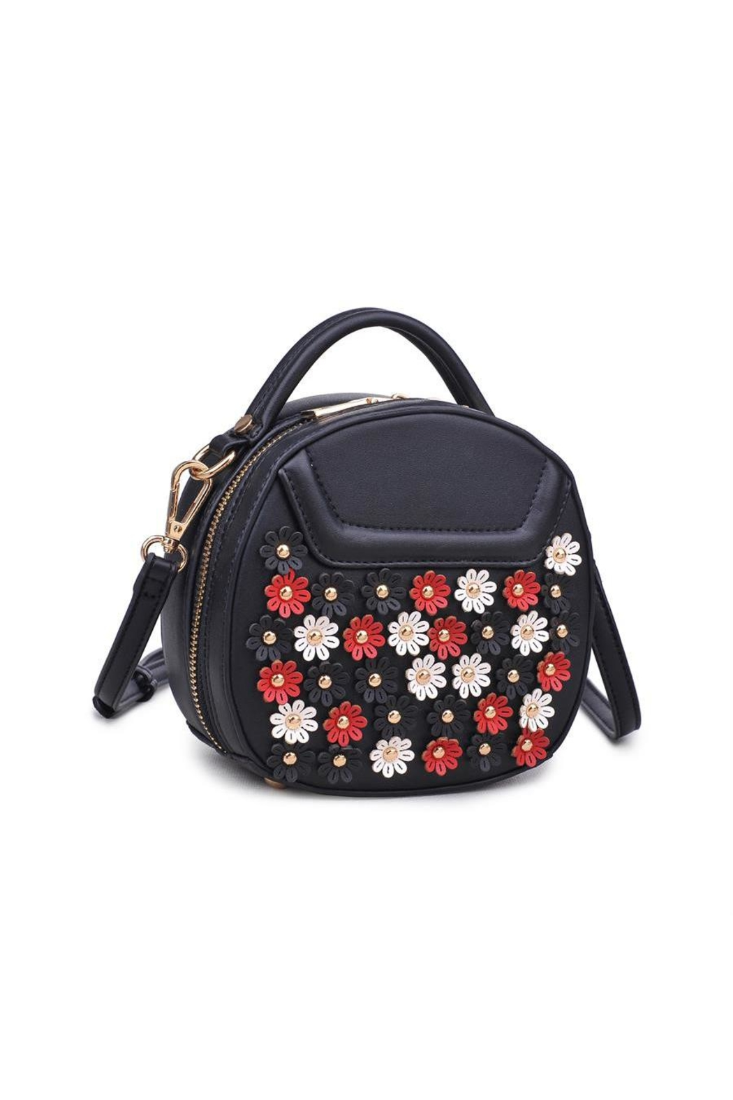 Urban Expressions Flowery Mini Crossbody Bag - Front Full Image