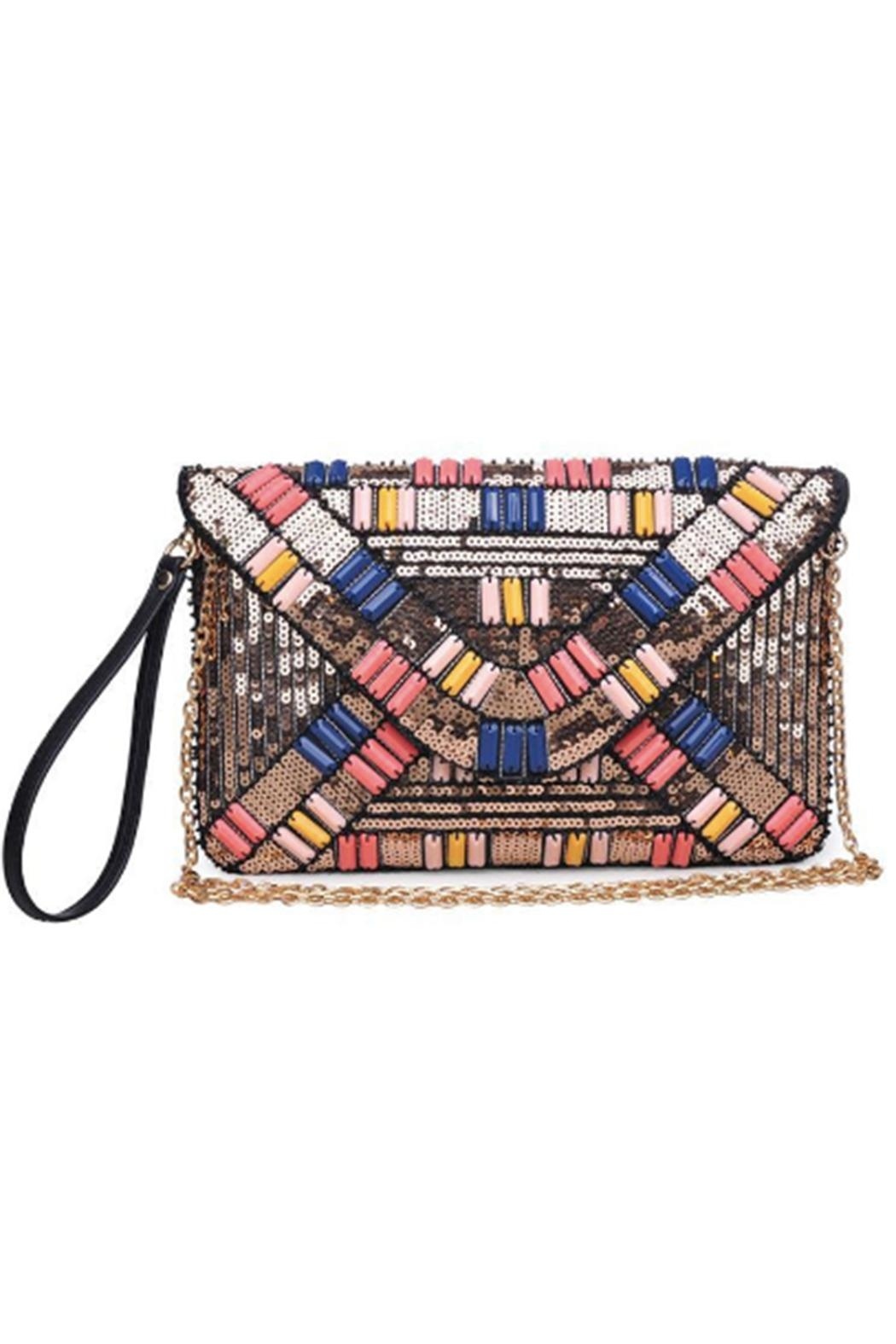 Urban Expressions Jazz Beaded Clutch Front Cropped Image