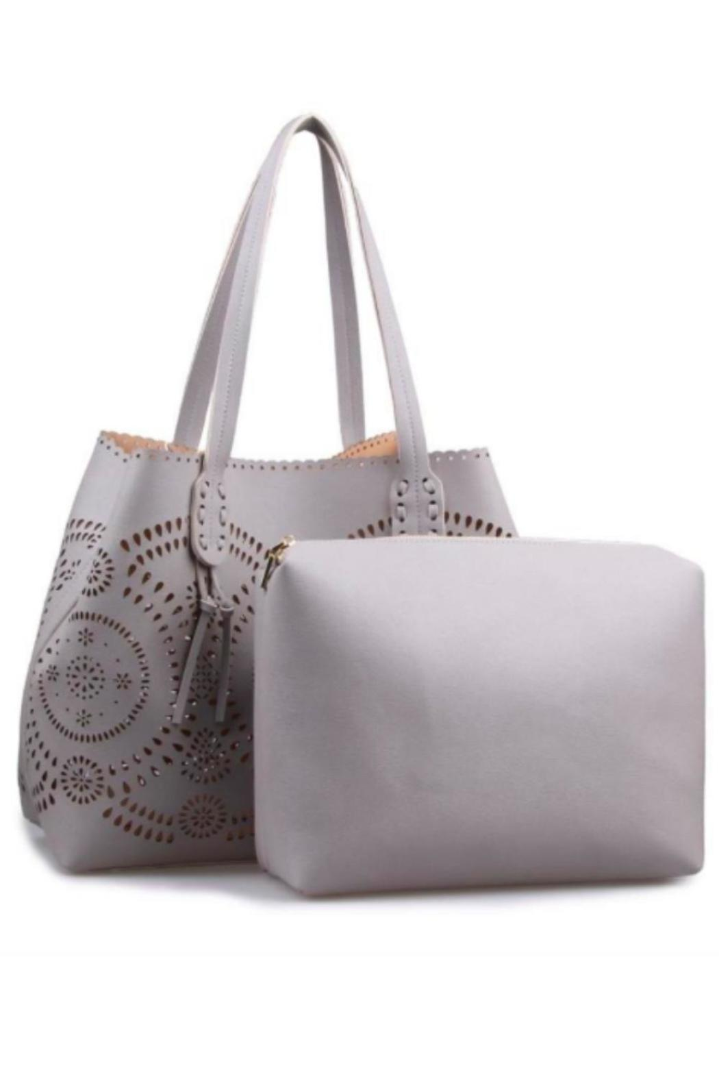 Urban Expressions Laser Cut Tote - Front Full Image
