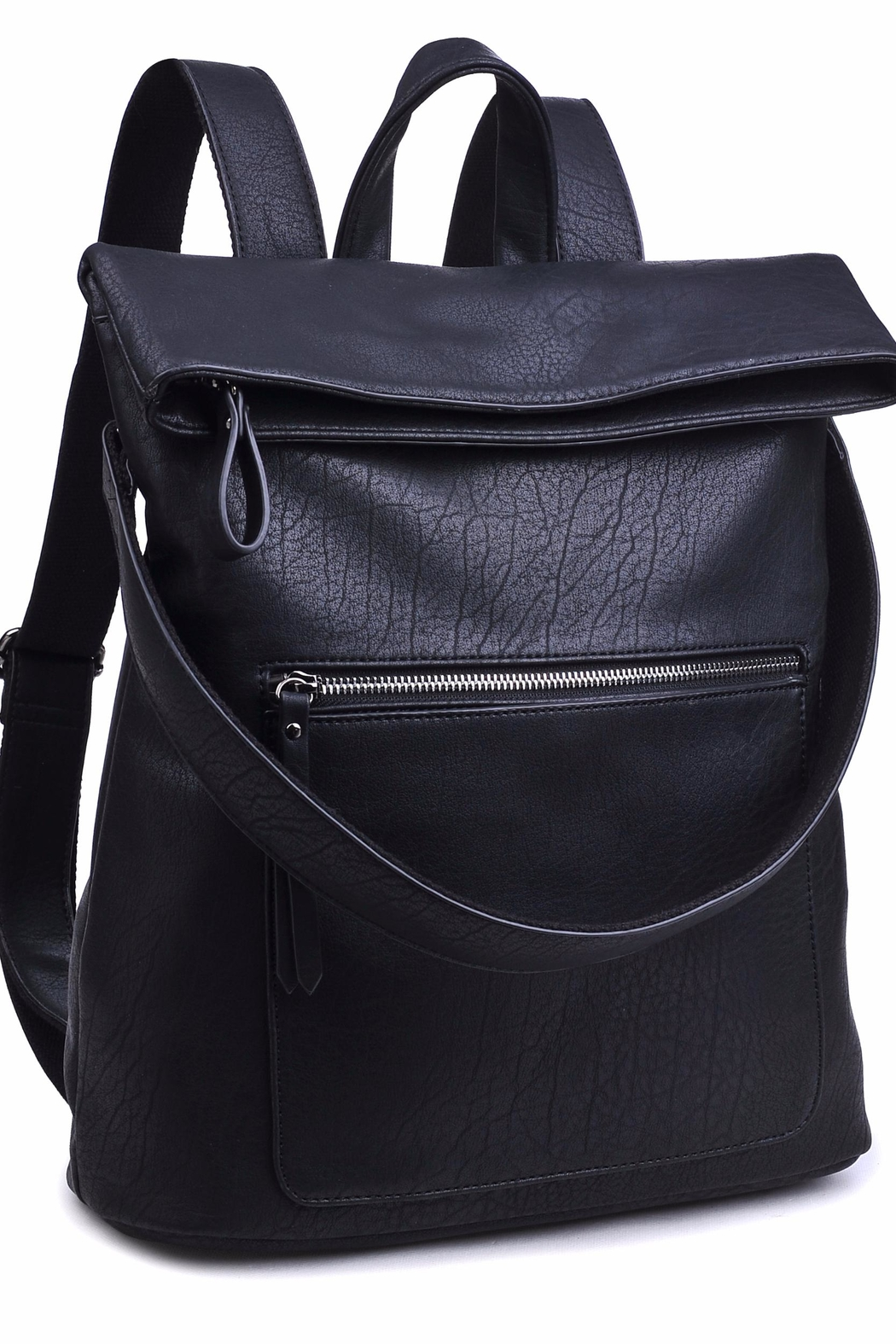 Urban Expressions Lennon Foldover Backpack - Side Cropped Image