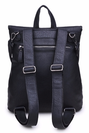 Urban Expressions Lennon Foldover Backpack - Front full body