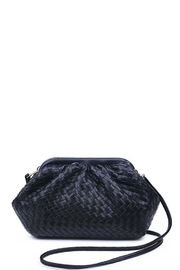 Urban Expressions Leona Woven Vegan Leather Crossbody - Product Mini Image